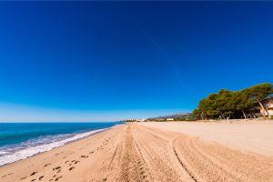 Les côtes, Europe, Espagne, Catalogne, Costa Dorada, plage, tarragone, miami platja