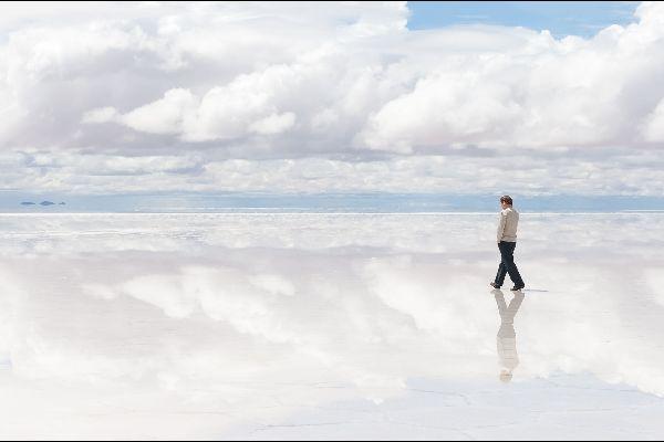 Le Salar de Uyuni , Du sel à perte de vue , Bolivie