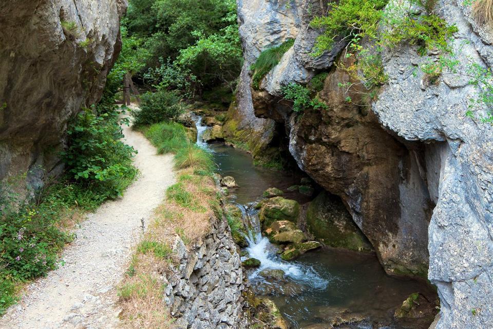 Parque Natural de Valderejo , La garganta y el río Purón , España