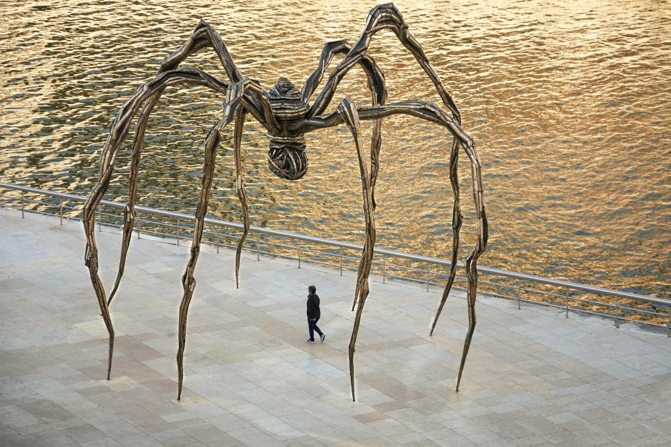 """Maman"", a sculpture by Louise Bourgeois, Guggenheim Museum Bilbao, Arts and culture, Basque Country"