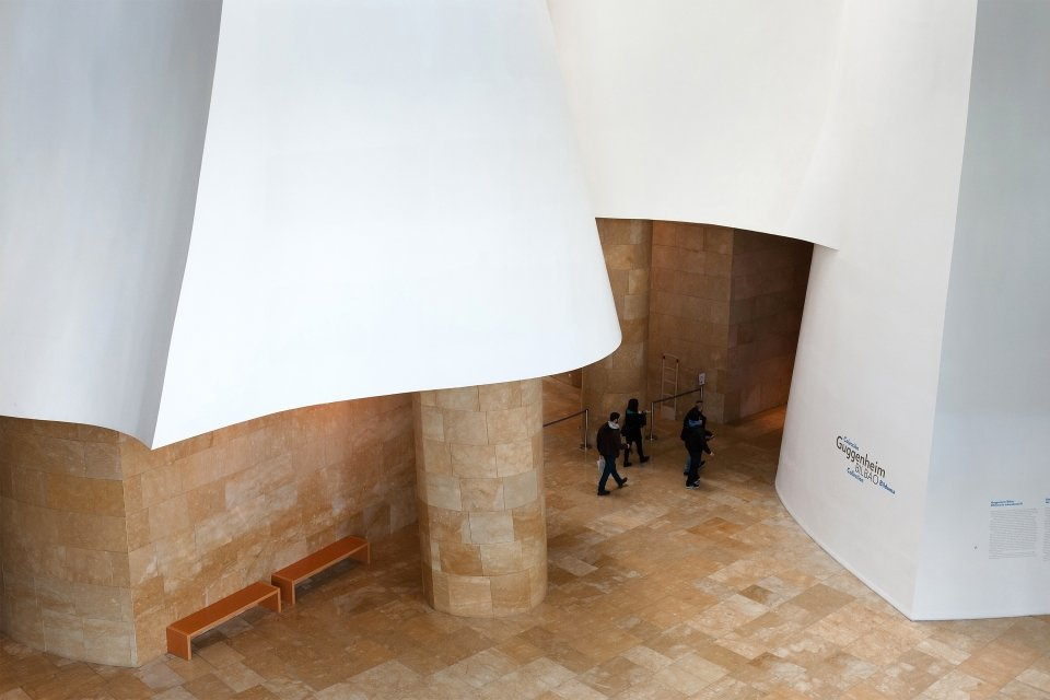 The entrance to the museum, Guggenheim Museum Bilbao, Arts and culture, Basque Country