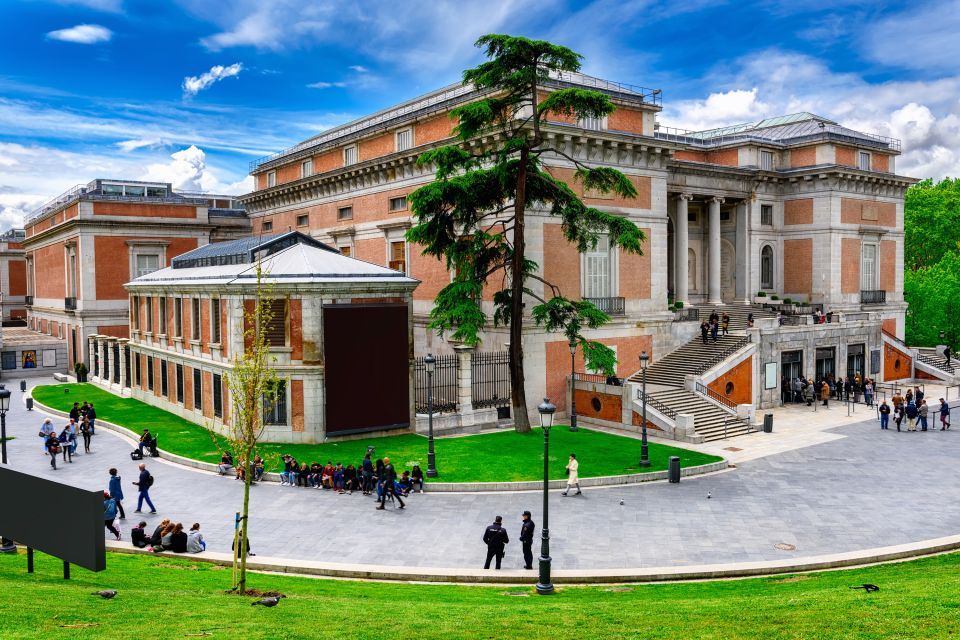 The Goya façade of the Prado Museum, Prado Museum, Arts and culture, Madrid, Community of Madrid