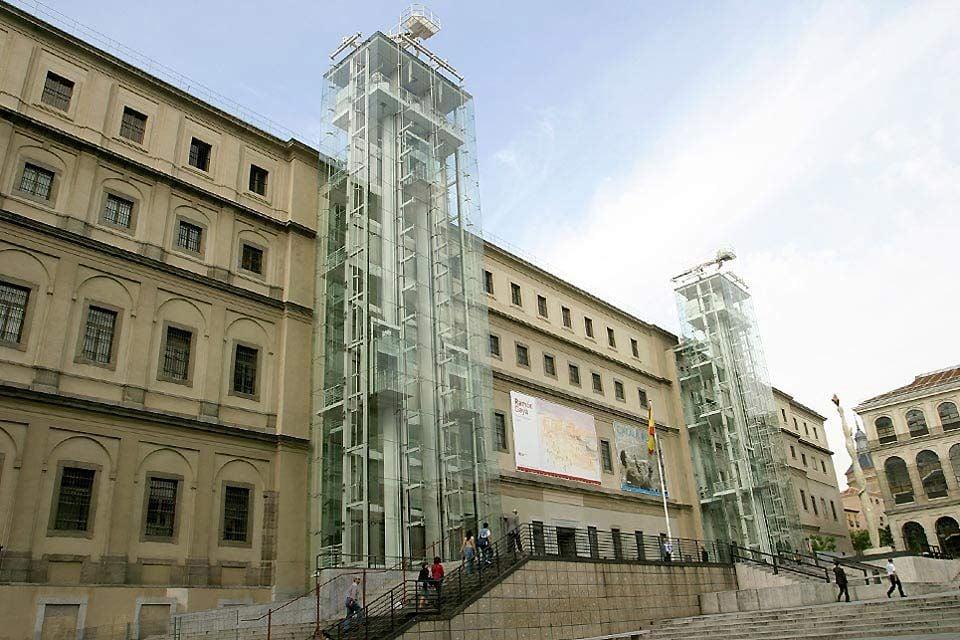 Fachada del Reina Sofía, El Museo Nacional Centro de Arte Reina Sofía, Arte y cultura, Madrid, Comunidad de Madrid