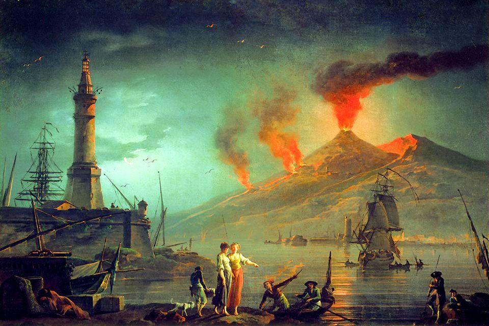 Mount Vesuvius , Representation of Versuvius , Italy