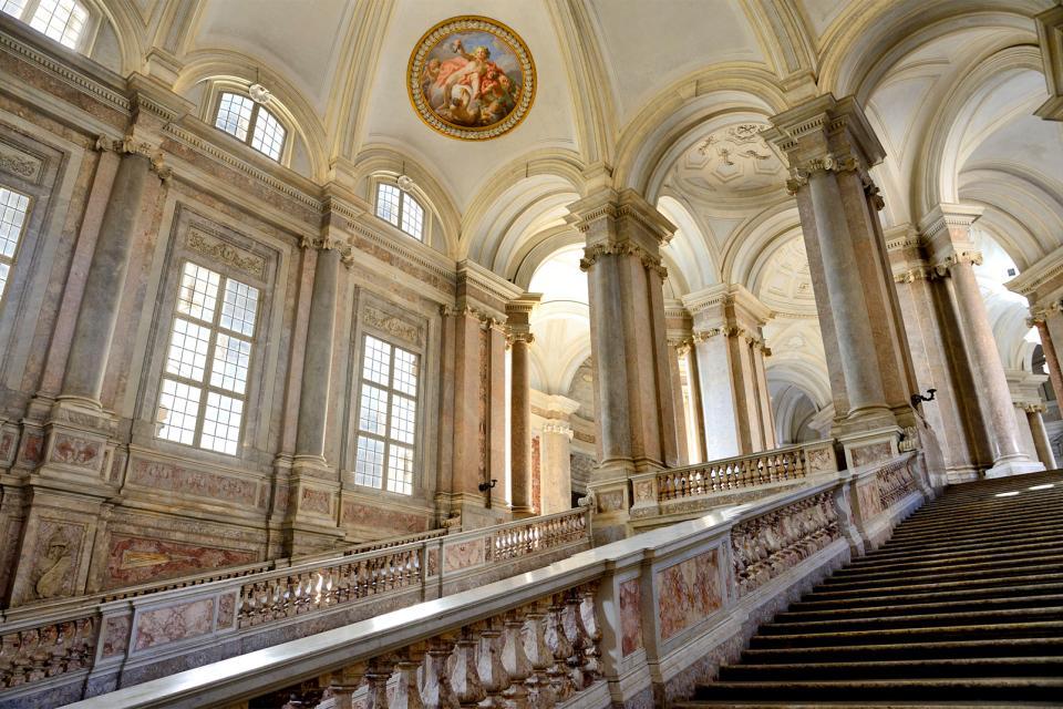 La Reggia di Caserta , La facciata del Palazzo Reale , Italia