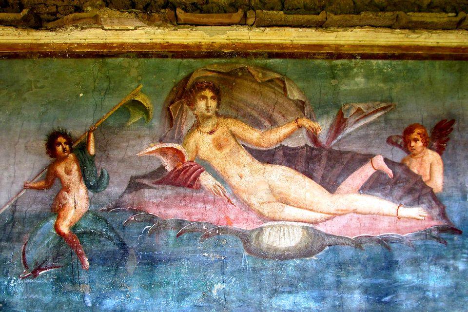 Pompéi , La villa de Vénus dans le coquillage , Italie
