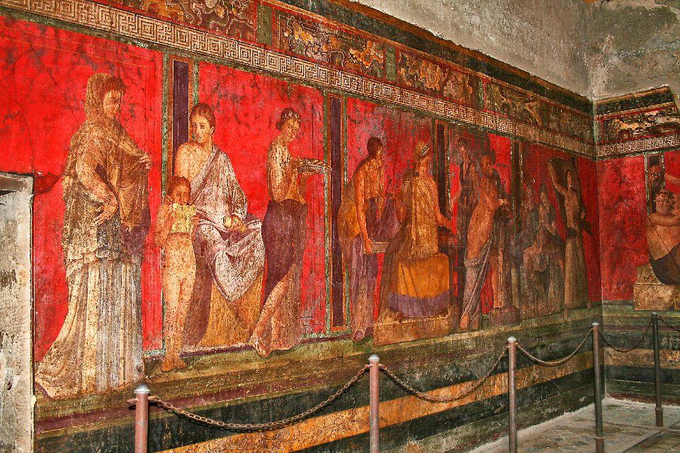 Pompéi , Fresque à Pompéi , Italie