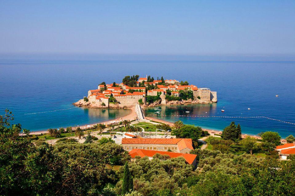 L'île de Sveti Stefan , Sveti Stefan , Monténégro