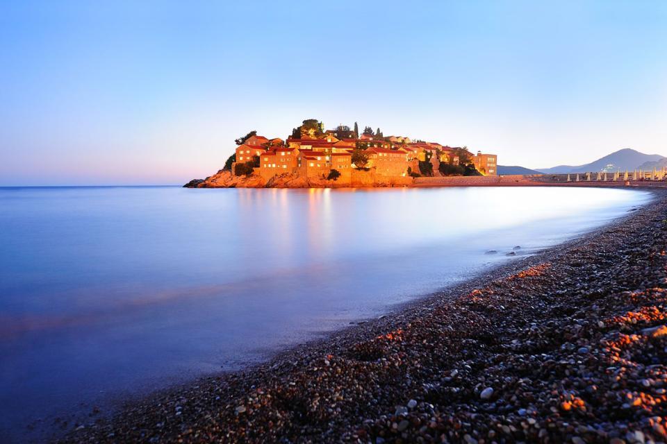 L'île de Sveti Stefan , Aman Sveti Stefan , Monténégro