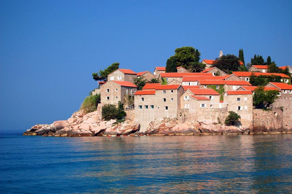 L'île de Sveti Stefan , Une île-hôtel , Monténégro