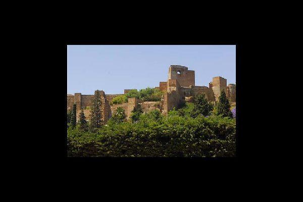 El Castillo de Gibralfaro de Malaga , El Castillo de Gibralfaro de Málaga , España