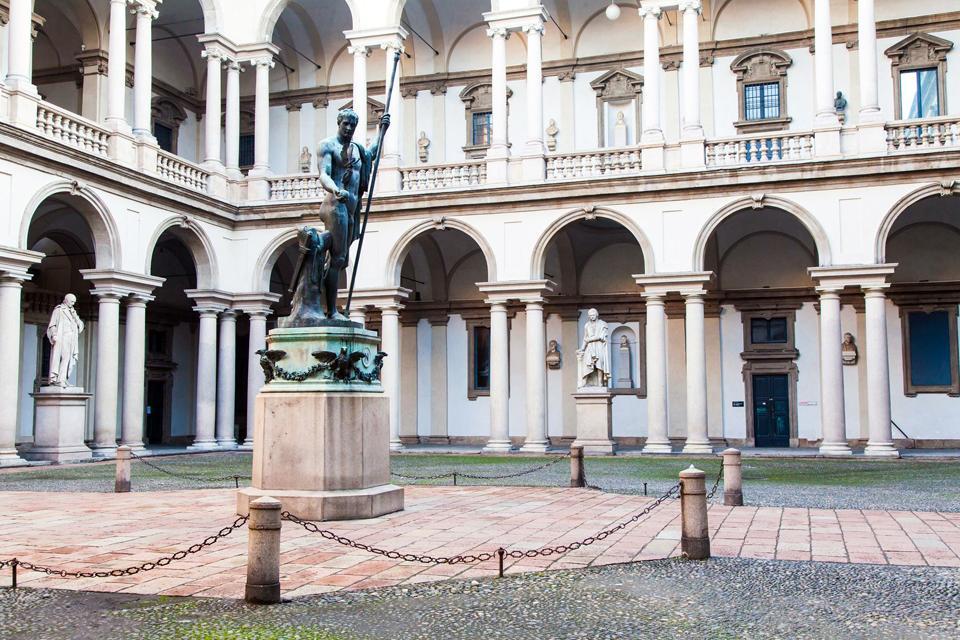 LA PINACOTECA DI BRERA , La Cena di Emmaus, di Caravaggio , Italia