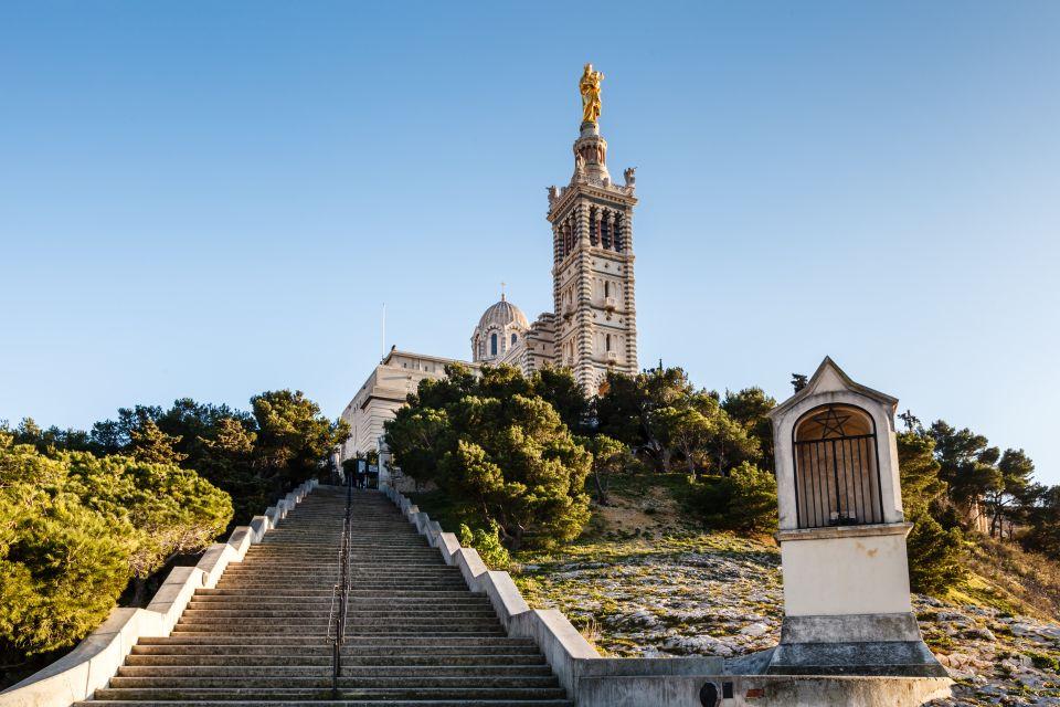 The 'Bonne Mère' (Good Mother) bell tower, Notre-Dame de la Garde, Monuments, Provence-Alpes-Côte d'Azur