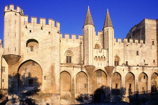 The Palais des Papes in Avignon, Palais des Papes, Monuments, Avignon, Provence-Alpes-Côte d'Azur