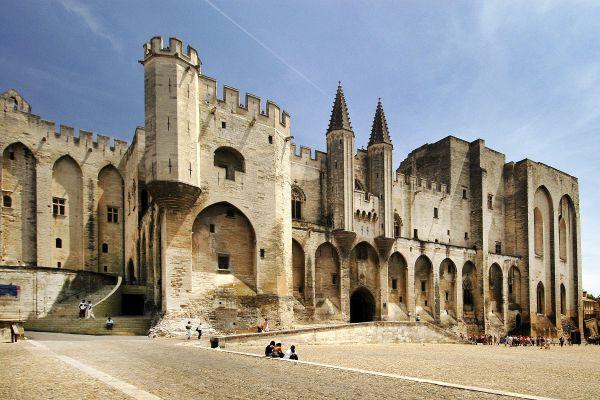 Fachada del Palacio Papal, Palacio de los Papas, Los monumentos, Avignon, Provence-Alpes-Côte d'Azur