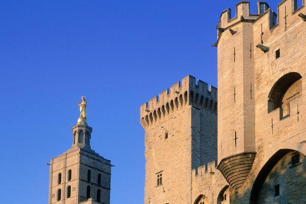 Entrada principal del Palacio Papal, Palacio de los Papas, Los monumentos, Avignon, Provence-Alpes-Côte d'Azur