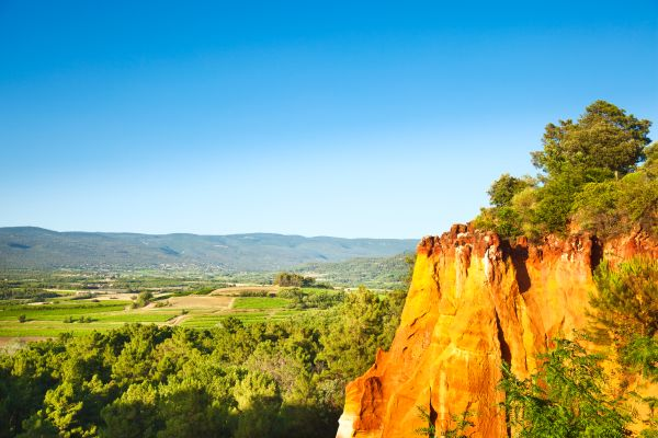 Luberon Regional Nature Park , The Colorado of Provence , France