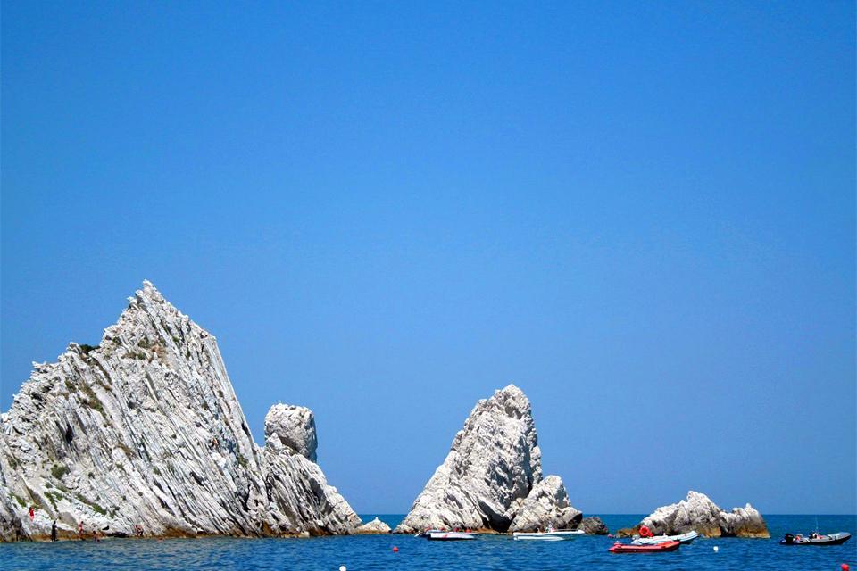 The Coast of Conero , The Conero coast, Le Marche , Italy