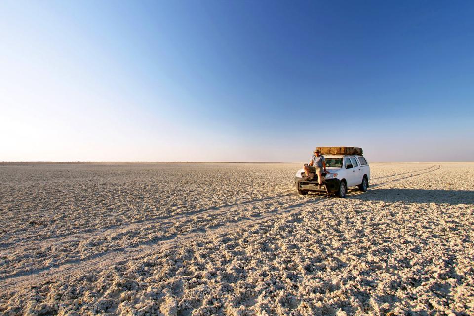 The island of Kubu. , Botswana