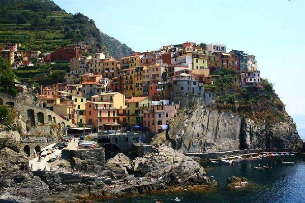 Las cinco Tierras , Golfo del Paraíso , Italia