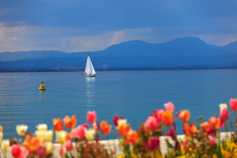 Lake Garda , The view of the lake , Italy