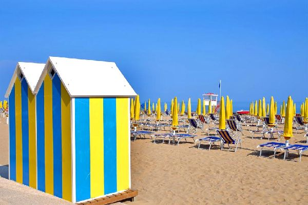 Jesolo , La plage du Lido de Jesolo , Italie