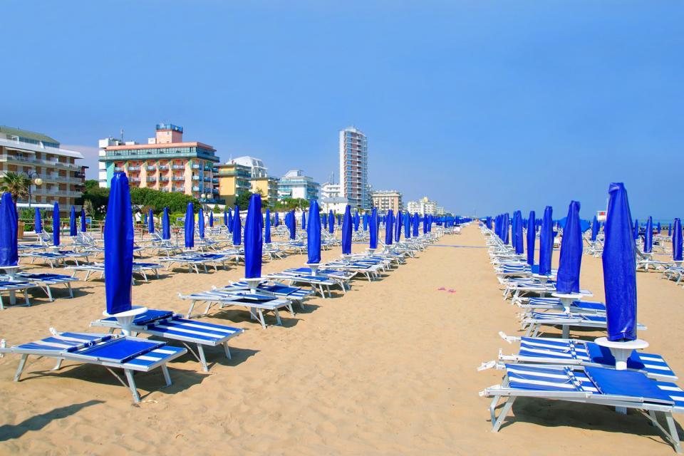 Caorle , Der Strand Lido in Jesolo , Italien