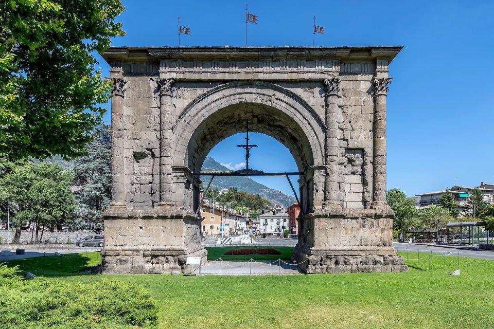 Édifices romains , Aoste, ville romaine , Italie