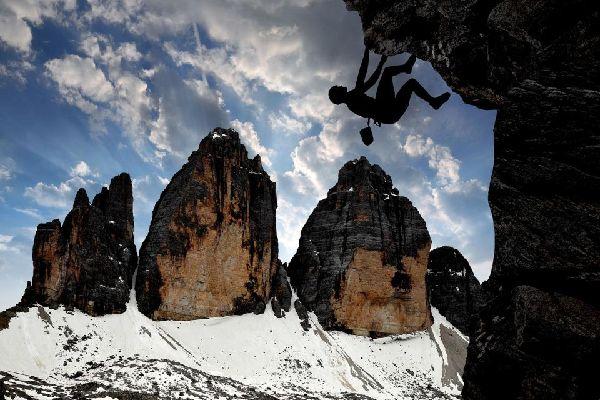 Los Dolomitas , Las Tres Cimas de Lavaredo , Italia
