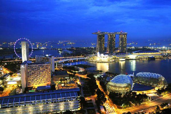 Singapore Flyer , Next to the Marina Bay Sands , Singapore