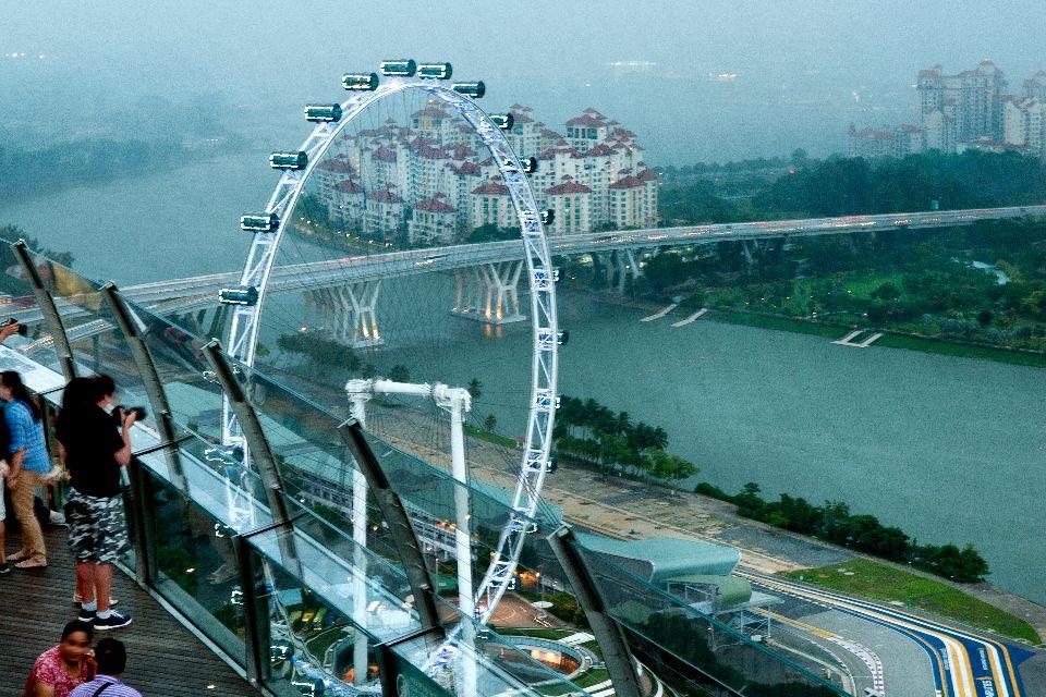 Singapore Flyer , Singapore Flyer de nuit , Singapour