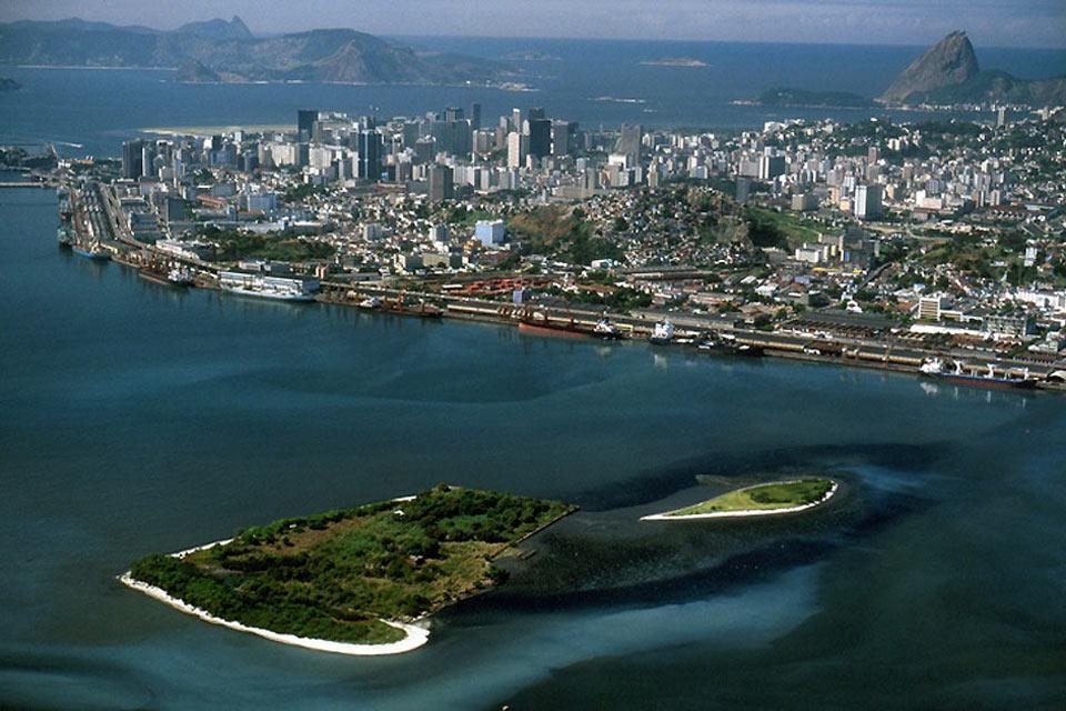 La baie de Guanabara , La baie de Rio , Brésil