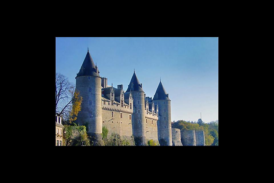 El castillo de Josselin , Fachada del castillo de Josselin , Francia