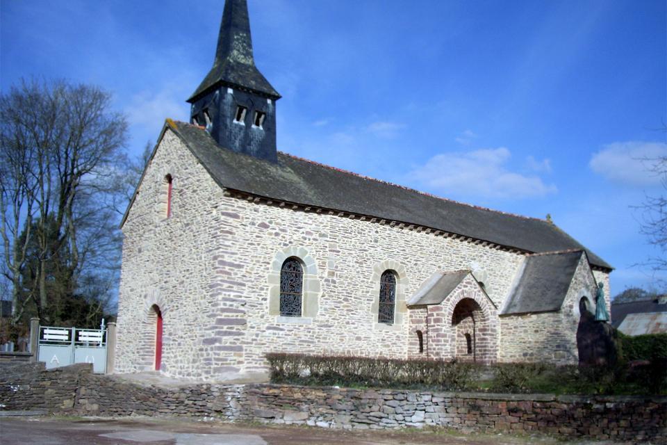 La iglesia de Tréhorenteuc (Sainte Onenne) , La iglesia de Tréhorenteuc , Francia