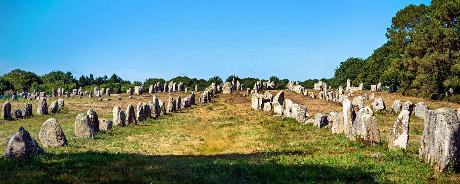 Die Alignements Von Carnac Bretagne Frankreich