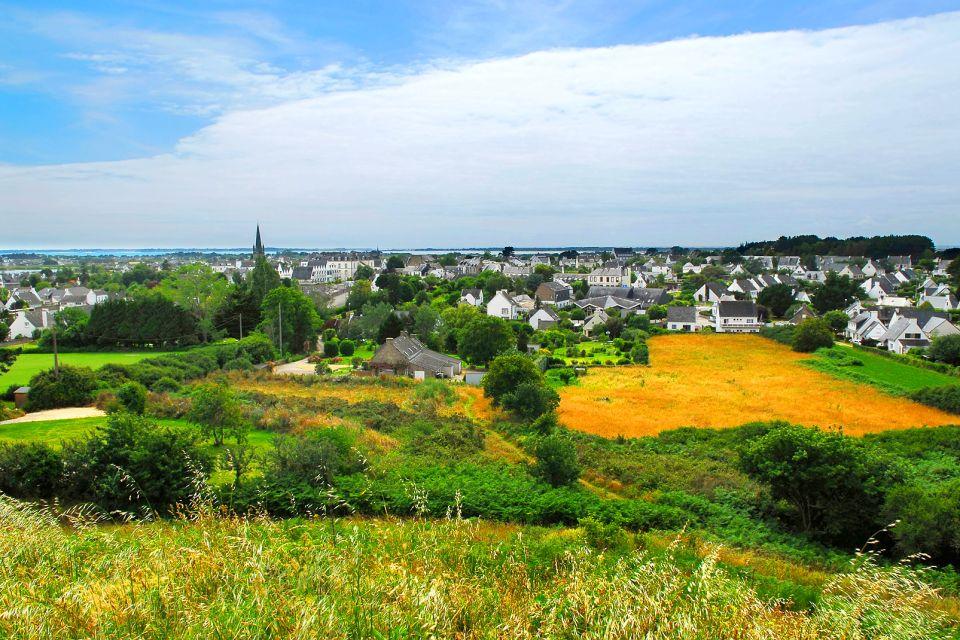 El alineamiento de Carnac , Vistas de la localidad de Carnac , Francia