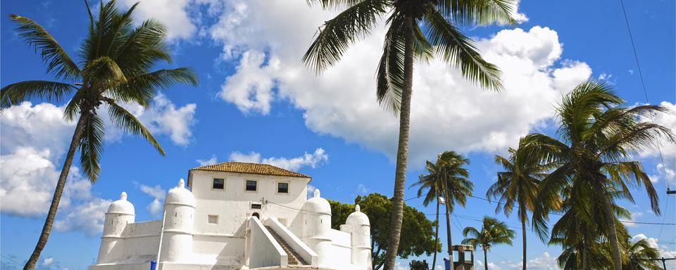 Eine von vier Festungen in Salvador de Bahia
