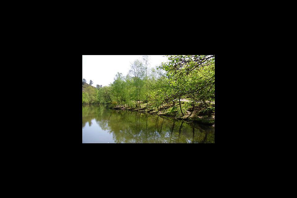 La forêt de Brocéliande , Le Miroir aux fées depuis les rochers , France