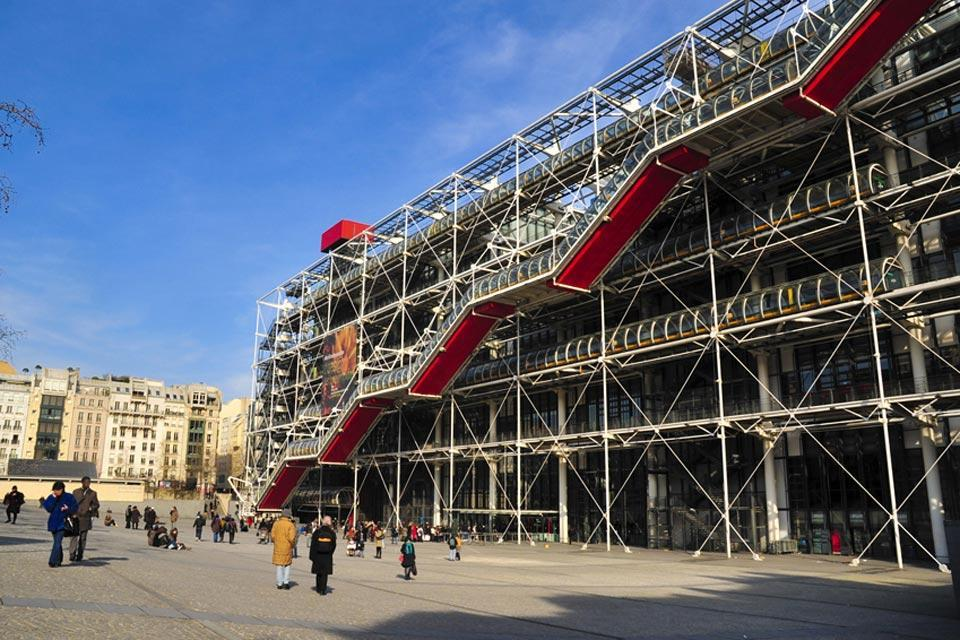 The Centre Pompidou , The Georges Pompidou Centre , France