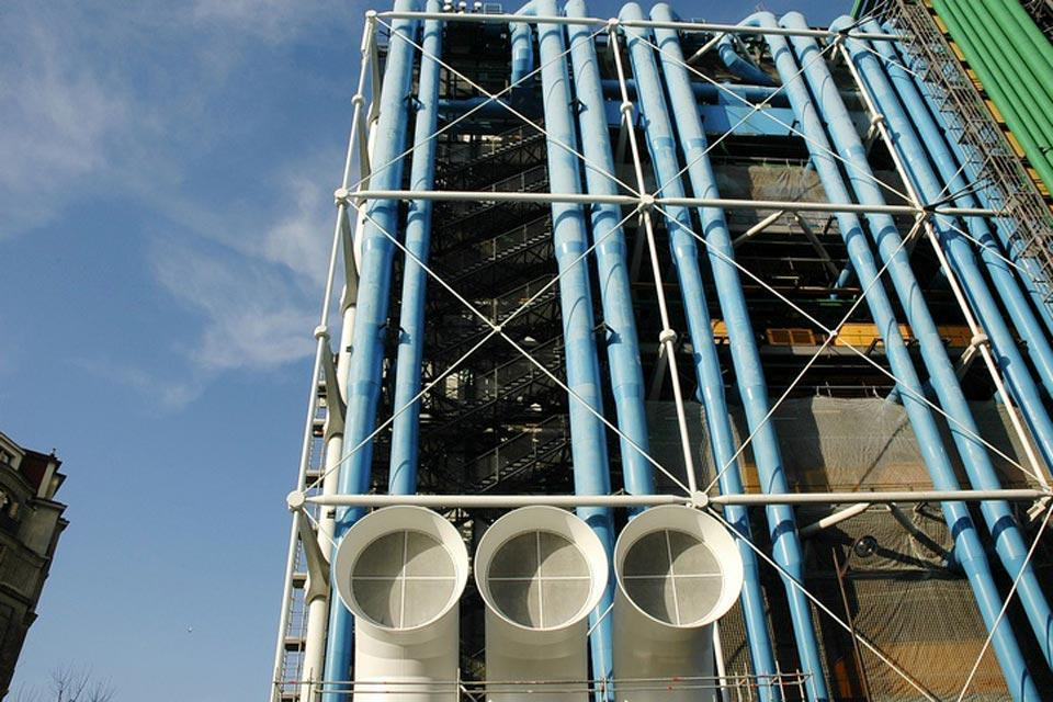 The Centre Pompidou , That 'oil refinery' look , France