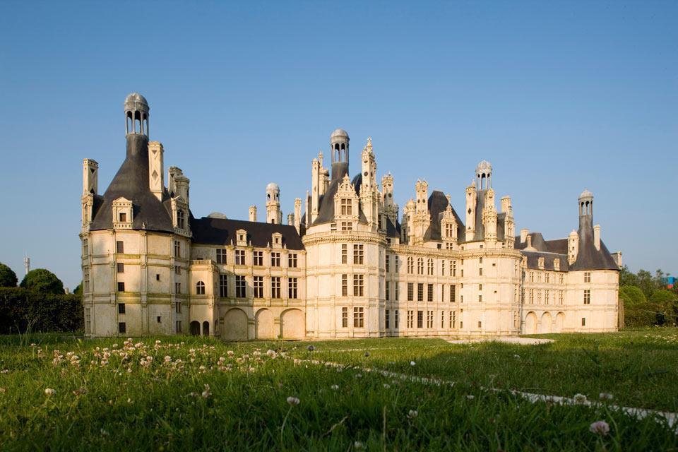 La Guinguette de l'île du Martin Pêcheur , Il castello di Chambord , Francia