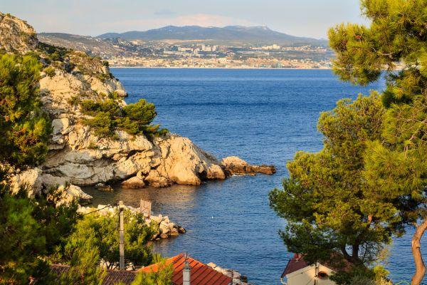 Las calas calcáreas, La costa Azul, Las costas, Provence-Alpes-Côte d'Azur