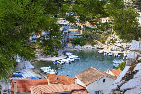 Un puerto de la costa Azul, La costa Azul, Las costas, Provence-Alpes-Côte d'Azur