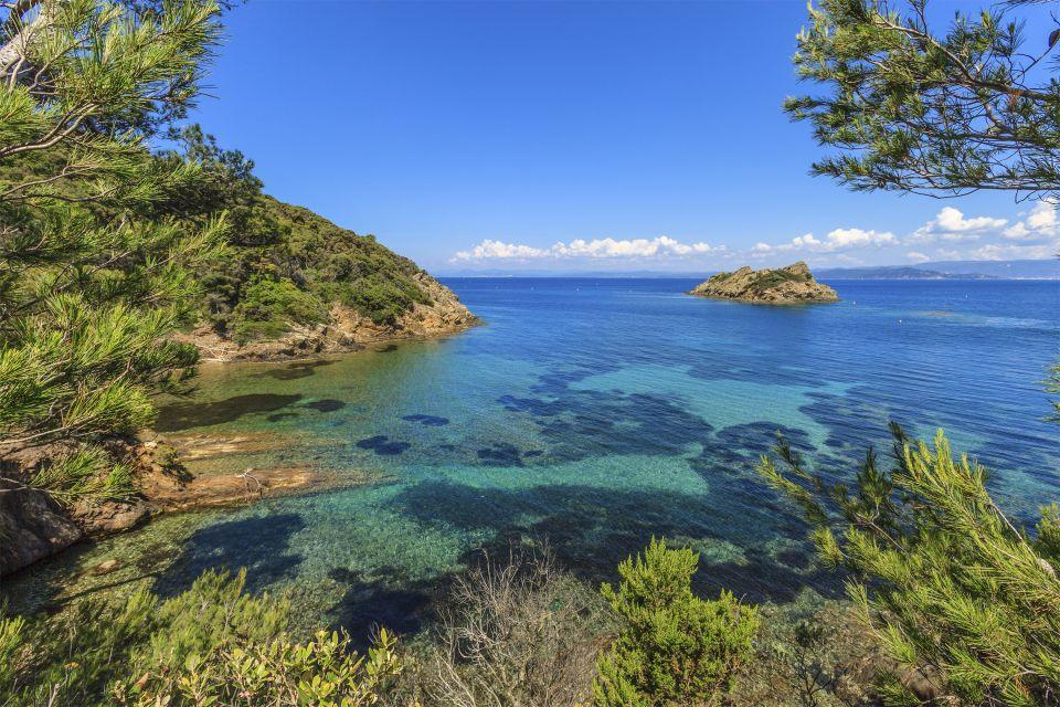 El archipiélago de las islas Hyères, Islas Hyères y Lerins, Las costas, Provence-Alpes-Côte d'Azur
