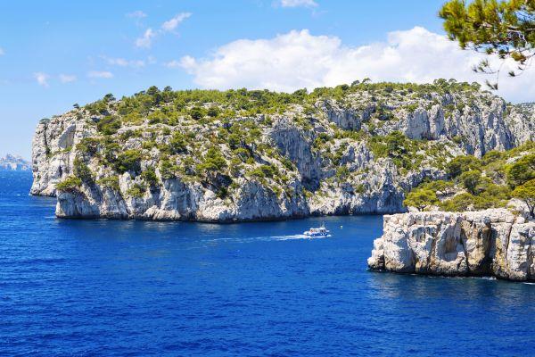 La cala de En Vau, Paseo en barco por las calas, Las actividades de ocio, Provence-Alpes-Côte d'Azur