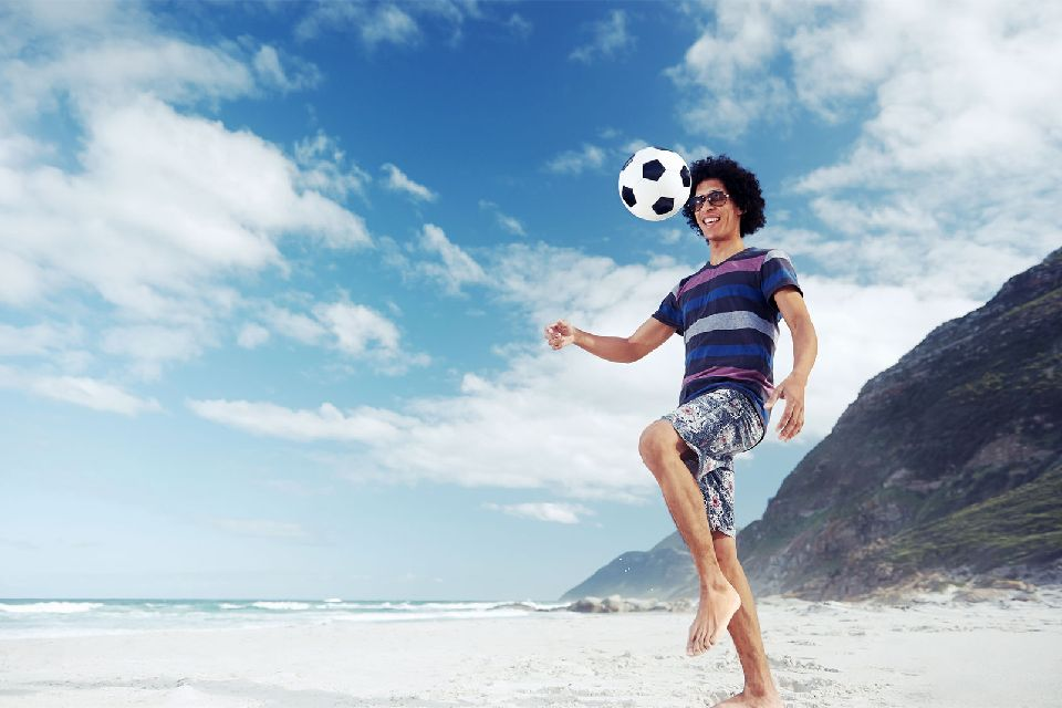 Football , Football in Copacabana , Brazil