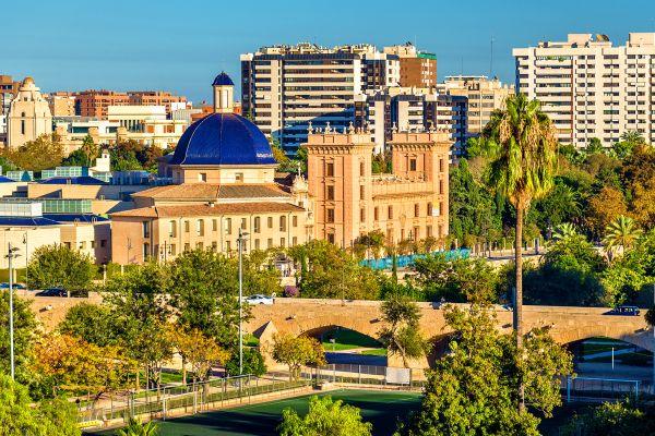 Vista desde el exterior, Museo de Bellas Artes de Valencia, Arte y cultura, Comunidad Valenciana