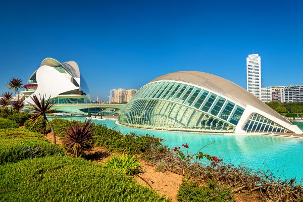 La cúpula hemisférica, Ciudad de las Artes y las Ciencias de Valencia, Arte y cultura, Comunidad Valenciana