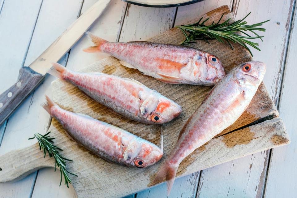 Los pescados , Entrada, plato principal y postre , Francia