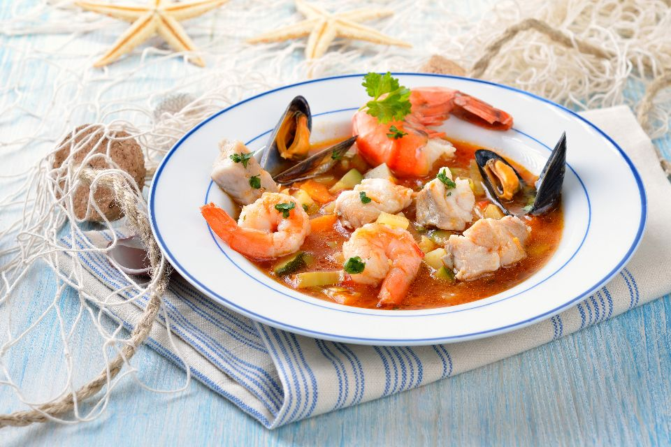 Bouillabaisse , A speciality of Marseille , France